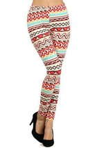 Fashion Mic Womens Colorful Polyester/spandex Leggings (free size, handsketch) - $9.89