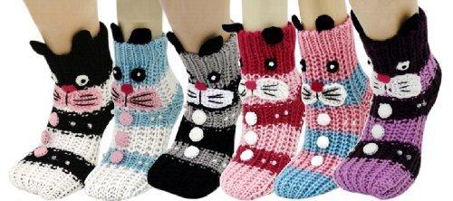Bunny Rabbit Knitted 3D Slipper Socks [Apparel] - $25.73