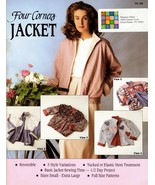 Four Corners Jacket Sewing Pattern Booklet FC 100 Reversible 5 Styles Al... - $7.95