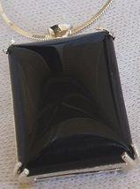 Onyx silver pendant-B - $35.00
