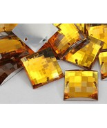 16mm Topaz CH16 Square Flat Back Sew On Beads for Crafts - 40 Pieces [Ki... - $5.44