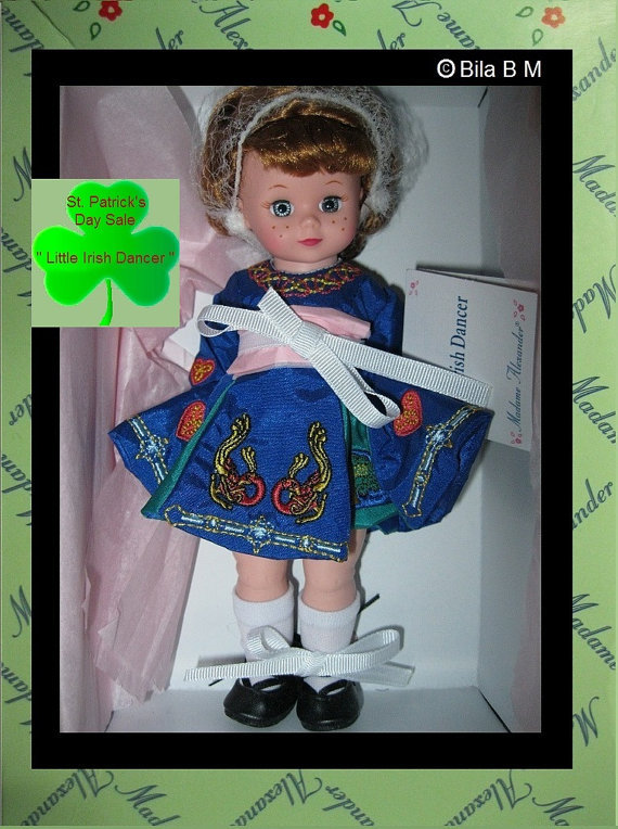 MADAME ALEXANDER 8 inch Doll - LITTLE IRISH DANCER - MIB - Great for March B'day