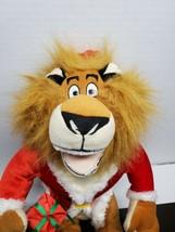 2009 Alex the Lion in Merry Madagascar Plush - Dreamworks - $11.98