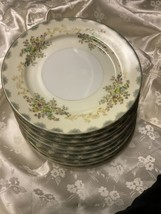 """10 Meiko Lunch Plates Hand Painted 7 3/4"""" - $62.89"""