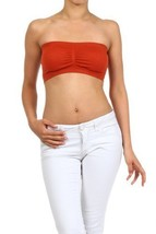 Fashion Mic Womens Bandeau wtih Removable Pads (one size, rust) [Apparel] - $6.92