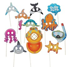 "Sea Life Photo Stick Props (12 Pieces) on 12"" sticks.  - $13.29"