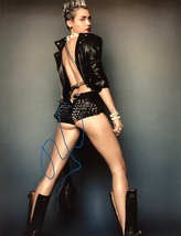 MILEY CYRUS AUTOGRAPHED Hand Signed 11x14 PHOTO SEXY HOT! w/COA  - $119.99