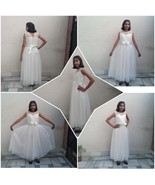 Ball Gown with Floor Length in White Color - $63.99+