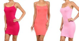 FashionMic 3 Pack Womens Seamless Cami Dress (One Size, raspberry/melon/light... - $24.74