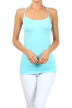 Fashion Mic Womens Solid Color Nylon Cami Top (one size, candy blue) [Ap... - $6.92