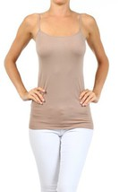 Fashion Mic Womens Solid Color Nylon Cami Top (one size, cream chocolate) - $6.92