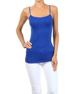 Fashion Mic Womens Solid Color Nylon Cami Top (one size, cobalt blue) [A... - $6.92