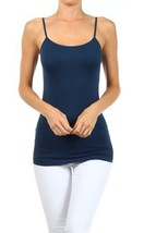 Fashion Mic Womens Solid Color Nylon Cami Top (one size, dark denim) [Ap... - $6.92
