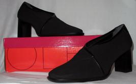 Aerosoles Black Stretch Pumps Block Heel Round Toe Size 8 B - $39.99