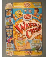 2003 MT Cereal Box POST Waffle Crisp SPONGEBOB Nightspyer [Y155C8n] - $17.28