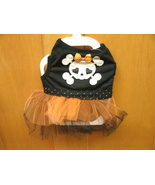 SKULL and CROSSBONES TUTU DRESS Tee DOG BIKER Costume - NEW with TAGS   - $8.99