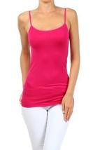 Fashion Mic Womens Solid Color Nylon Cami Top (one size, fuchsia) [Apparel] - $6.92