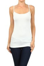 Fashion Mic Womens Solid Color Nylon Cami Top (one size, white) [Apparel] - $6.92