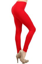 fashion MIC Women's High Waist Nylon Seamless Leggings (Regular, Red) [A... - $11.87