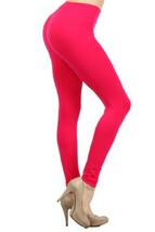 fashion MIC Women's High Waist Nylon Seamless Leggings(Regular, Fuschia) - $11.87