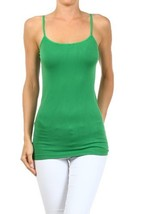 Fashion Mic Womens Solid Color Nylon Cami Top (one size, kelly green) [Apparel] - $6.92