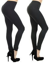 Fashion Mic Women's Regular and Plus Size Nylon Seamless Leggings (One S... - $22.76