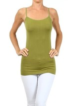 Fashion Mic Womens Solid Color Nylon Cami Top (one size, light olive) [A... - $6.92