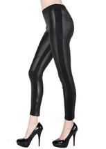 Fashion Mic Womens Essential Black Faux Leather/Matte Leggings (XL/XXL, Patch) - $19.79