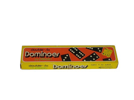 Vintage Dominoes Collectible Game Double Six 28 Pieces Taiwan Kmart - $19.79