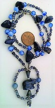 Iolite Sodalite Gemstone Necklace - $27.24