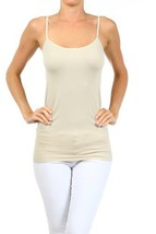 Fashion Mic Womens Solid Color Nylon Cami Top (one size, oyster) [Apparel] - $6.92