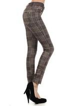 Fashion MIC Skinny HoundsTooth Plaid Fashion Pants (medium, coffee) [Apparel] - $27.71