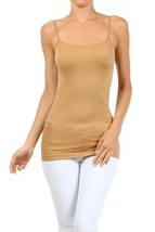 Fashion Mic Womens Solid Color Nylon Cami Top (one size, suntan) [Apparel] - $6.92
