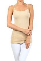Fashion Mic Womens Solid Color Nylon Cami Top (one size, stone) [Apparel] - $6.92