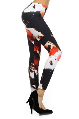 Yelete - Women's Outer Space Galaxy Fashion Printed Leggings- Free Size (one ...