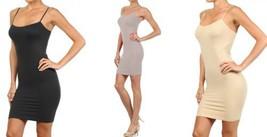 FashionMic 3 Pack Womens Seamless Cami Dress (One Size, charcoal/grey/stone) - $24.74