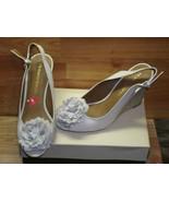 Franco Sarto Salem Wedge Heel Size 9 Medium Womens Open Toe Shoes   (Ivory) - $29.99