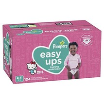 Pampers Easy Ups Pull Ups Disposable Potty Training Underwear for Girls, Size 5