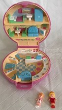 Vintage Polly Pocket Pink Shell Compact Bluebird Polly's Cafe Complete 1989 - $39.59