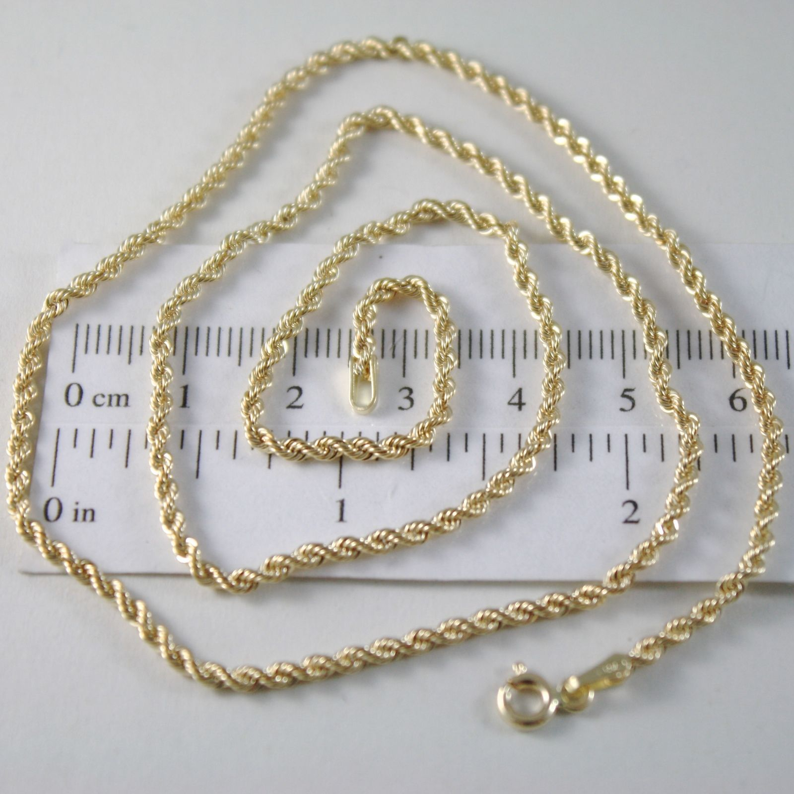 CHAIN WOVEN ROPE YELLOW GOLD 750 18K, 40 45 50 60 CM THICKNESS 2.5 MM