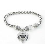 Dance Mom Clear Crystal Heart Silver Bracelet Jewelry Ballet Dancer Dril... - $12.86