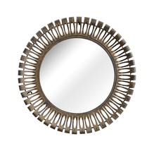 Zuo Modern Drum Mirror, Rusted metal frame - $177.00