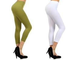 Fashion Mic Womens Nylon Capri Leggings (Regular & Plus Size) (regular, ... - $18.80