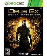 Deus Ex: Human Revolution  (Xbox 360, 2011) Video Game - $15.83