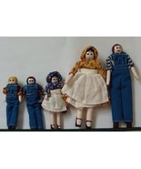 Set of Five Folk Art Dolls  with Peg Legs and Arms  - $19.99