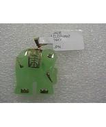 Beautiful 14k Solid Yellow Gold Green Jade Elephant Pendant 6.5 grams - $65.00