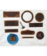Vintage Name Plaques (Metal)  - $24.90