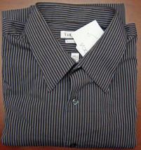 Van Heusen - Brown Stripe Regular Fit Long Sleeve Shirt - Size 17 - 32-33 - $15.95