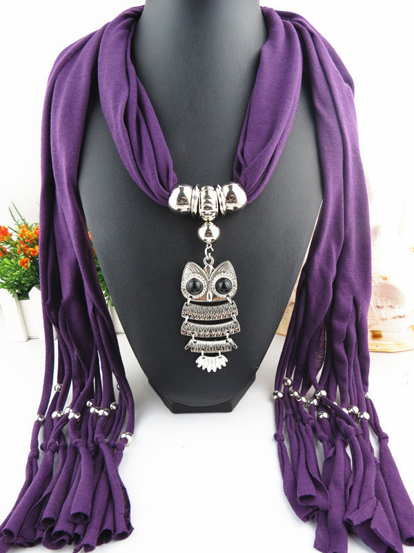 Charms Scarf jellery pendant Scarf Scarves lace Scarf image 2