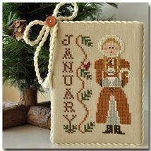 January Calendar Girl #1 cross stitch chart Little House Needleworks - $5.40